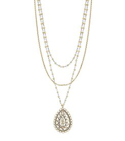 Lucky Brand® Openwork Pendant Layered Necklace