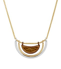 Lucky Brand® Tri Tone Collar Necklace