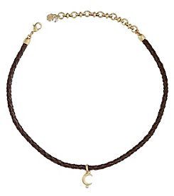 Lucky Brand® Goldtone Moon Leather Choker