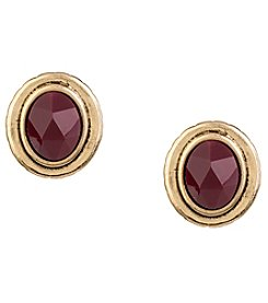 The Sak® Goldtone Color Stone Stud Earrings