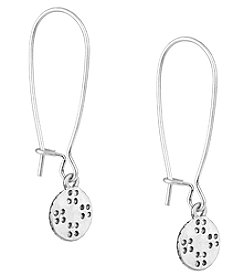 The Sak® Silvertone Elongated Etched Drop Earrings