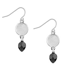 The Sak® Silvertone Circle Color Drop Earrings