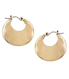 The Sak® Goldtone Crescent Hoop Earrings