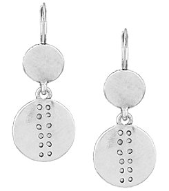 The Sak® Debossed Double Drop Earrings
