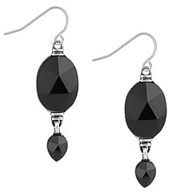 The Sak® Silvertone Double Bead Drop Earrings