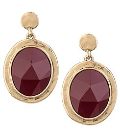 The Sak® Large Stone Doorknocker Earrings