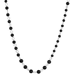The Sak® Silvertone Beaded Strand Necklace