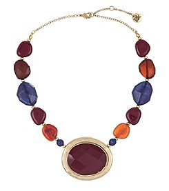 The Sak® Goldtone Beaded Stone Collar Necklace