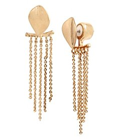 Kenneth Cole® Linear Front Back Earrings