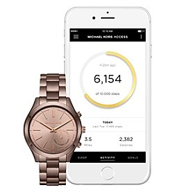 Michael Kors® Sable IP Slim Runway Hybrid Smartwatch