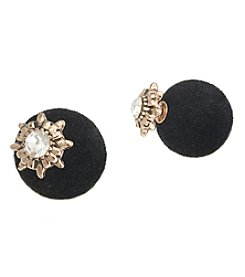 Robert Rose Front To Back Velvet Earrings