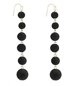 Robert Rose Linear Ball Velvet Earrings