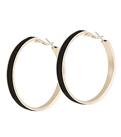 Robert Rose Velvet Hoop Earrings