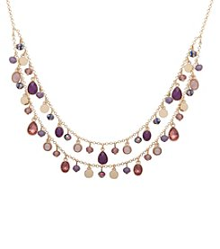 Nine West® Double Row Shaky Frontal Necklace