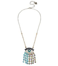 Betsey Johnson® Multi Color And Faceted Stone Evil Eye Pendant