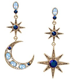Betsey Johnson® Moon And Star Drop Earrings