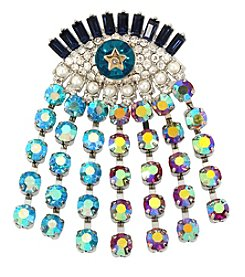 Betsey Johnson® Multi-Color And Multi-Stone Evil Eye Pin