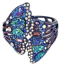 Betsey Johnson® Metallic Butterfly Wing Hinged Cuff