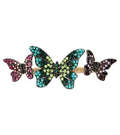 Betsey Johnson® Butterfly Double Ring