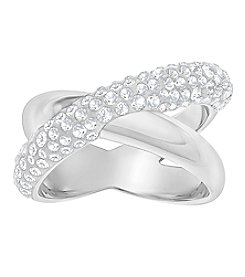 Swarovski® Crystaldust Cross Ring