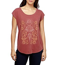 Lucky Brand® Lotus Graphic Tee