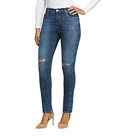 Bandolino® Plus Size Mandie Slim Jeans with Knee Slits