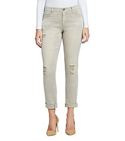 Bandolino Destructed Design Boyfriend Jeans