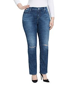 Bandolino® Mandie Plus Size Slim Jeans With Knee Slits