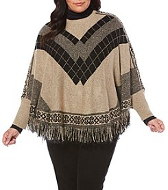 Rafaella® Plus Size Weekend Poncho Sweater