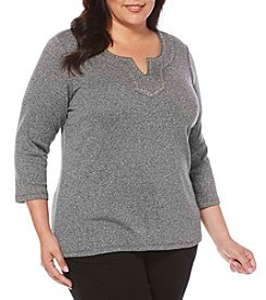 Rafaella® Plus Size Top With Grommets