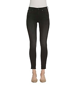 Vigoss Super Skinny Black Destructed Detail Jeans