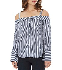 A. Byer Stripe Off-Shoulder Top