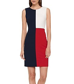 Tommy Hilfiger® Color Blocked Crepe Dress
