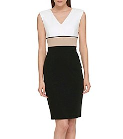 Tommy Hilfiger® Ponte Three-Tone Sheath Dress