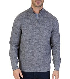 Nautica Men's Quarter Zip Snow Sweater