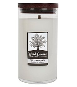 WoodWick® Wood Essence® Large Woven Flannel Candle