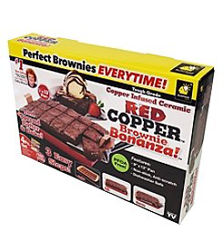 As Seen on TV Red Copper Brownie Bonanza Pan