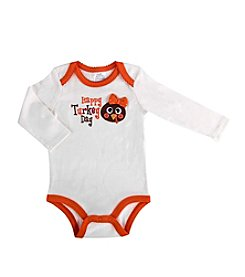 Cuddle Bear® Baby Girls' Long Sleeve Turkey Creeper
