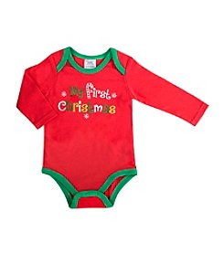 Cuddle Bear® Baby Girls' Long Sleeve My First Christmas Creeper