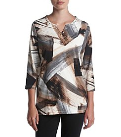 Alfred Dunner® Brushstroke Knit Top