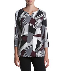 Alfred Dunner® Geometric Knit Top