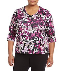 Studio Works® Plus Size Printed Tee