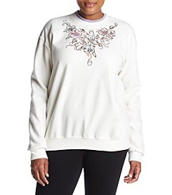 Breckenridge Plus Size Floral Foil Fleece