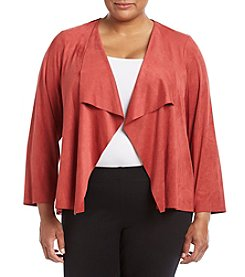 Alfred Dunner® Plus Size Cascade Faux Suede Jacket