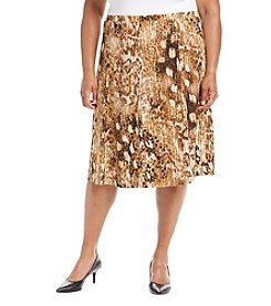 Alfred Dunner® Plus Size Jungle Print Skirt