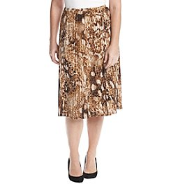 Alfred Dunner® Petites' Jungle Print Skirt