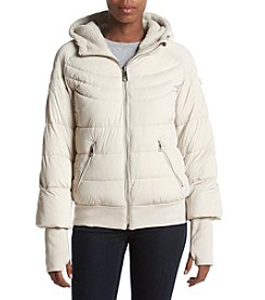 GUESS Hooded Puffer Bomber Coat