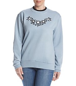 Morning Sun® Petites' Floral Silhouete Fleece