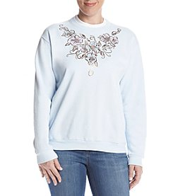 Morning Sun® Petites' Floral Foil Fleece