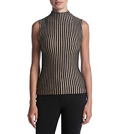 Kenneth Cole New York® Striped Mock Turtleneck